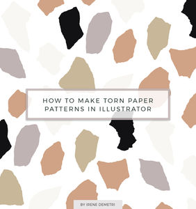 How to make Torn Paper, Abstract Illustrator Patterns
