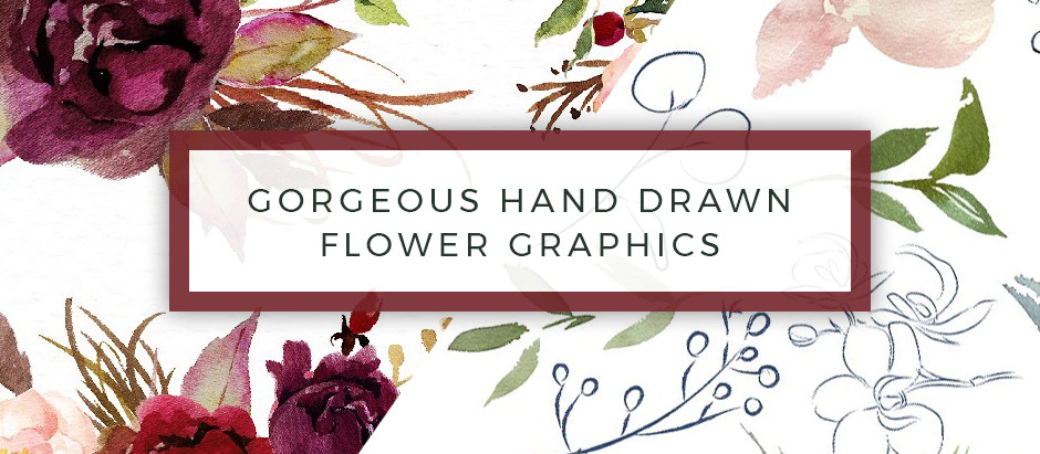 Gorgeous Premium Hand Drawn Flower Graphics