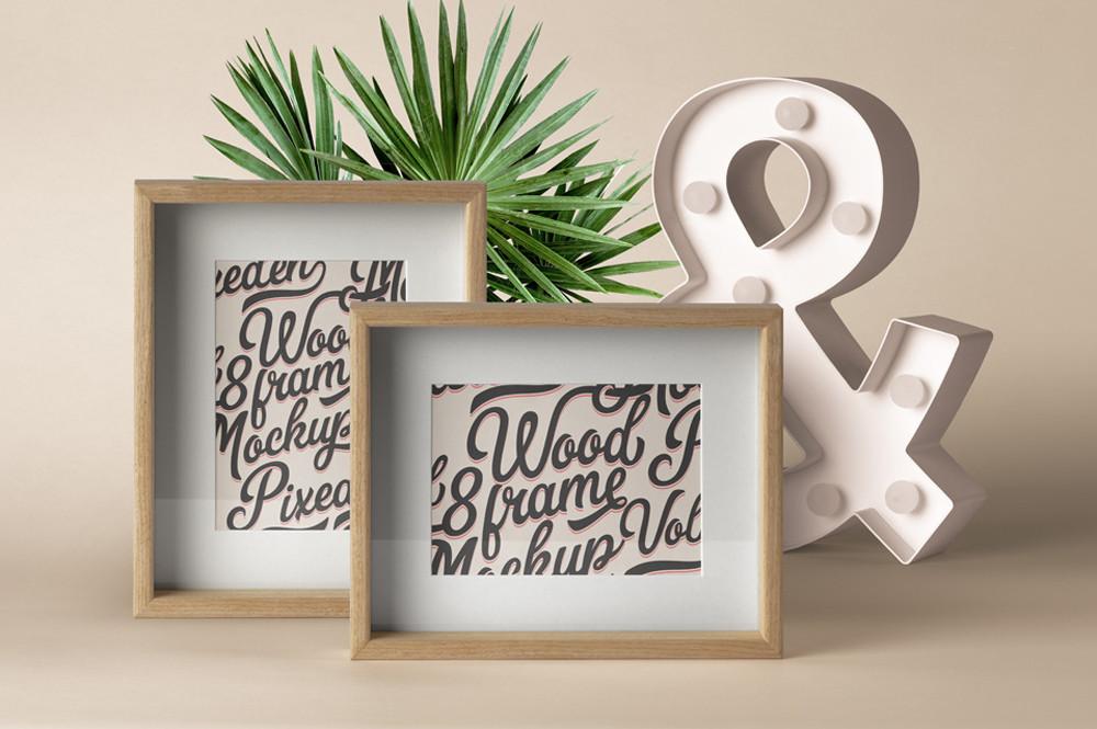 Psd Wood Frame Mockup