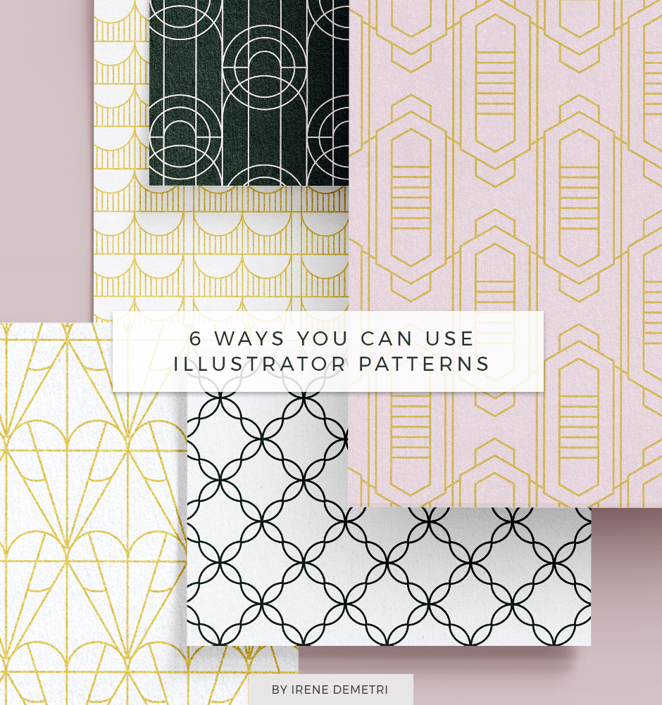 7 Ways you can use Illustrator Patterns