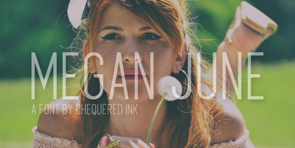 Megan June free Font