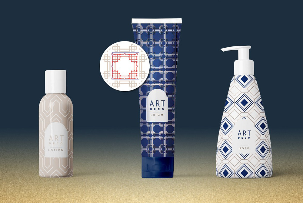 Art Deco patterns on Packaging