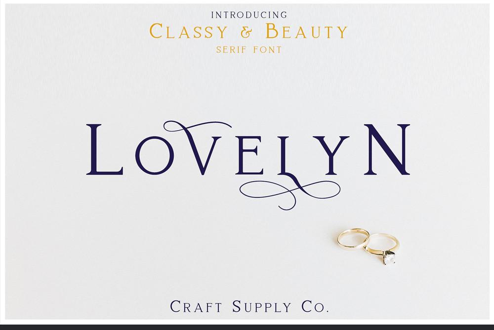 Lovelyn Serif font