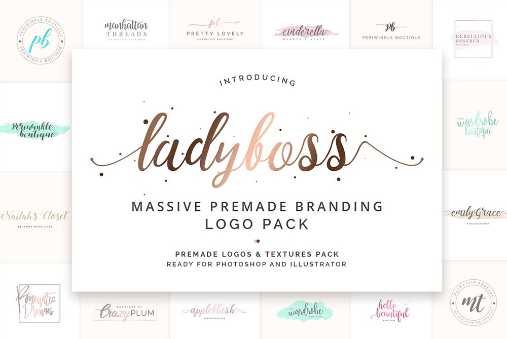 Ladyboss Branding Logos