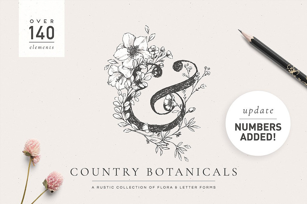 Country Botanicals & Monograms by Lisa Glanz