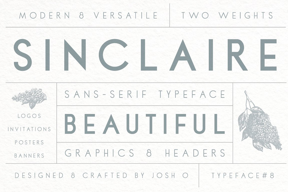 Sinclaire a beautiful Sans serif font