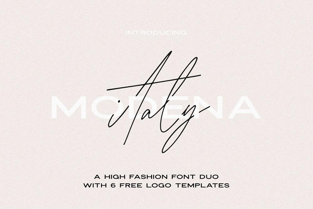 Modena High Fashion Font duo