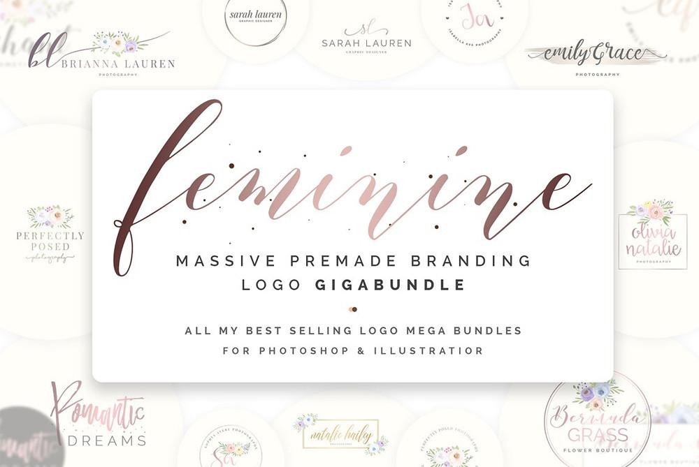 Feminine Logos Gigabundle