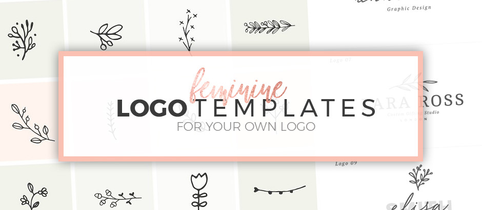 12 Feminine Logo Templates for your own logo