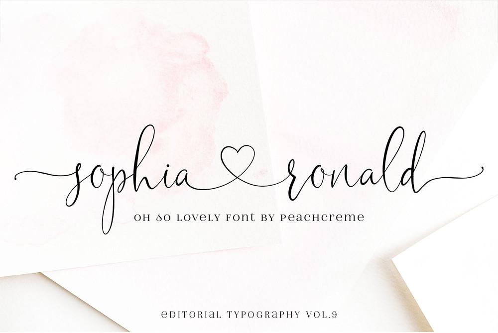 Sophia Ronald, script font