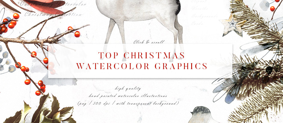 Top Christmas Watercolor Graphics