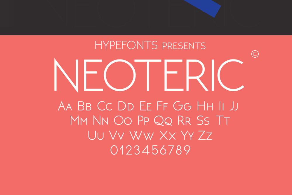 Neoteric free sans serif font