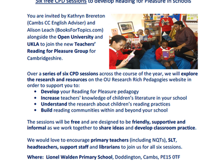 Free CPD Opportunity: Reading For Pleasure Group