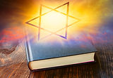 Star of David .  Prayer Book with Judais