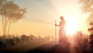 Silhouette of Jesus in the sunlight.jpg