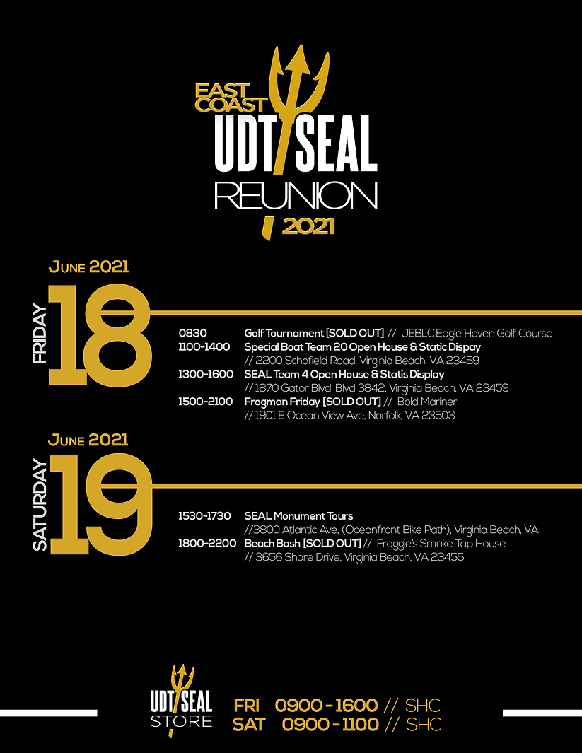 UDT-SEAL EC Reunion 2021 Schedule 6.16.2