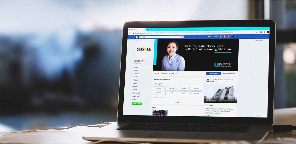 Social Media on Laptop Mock Up