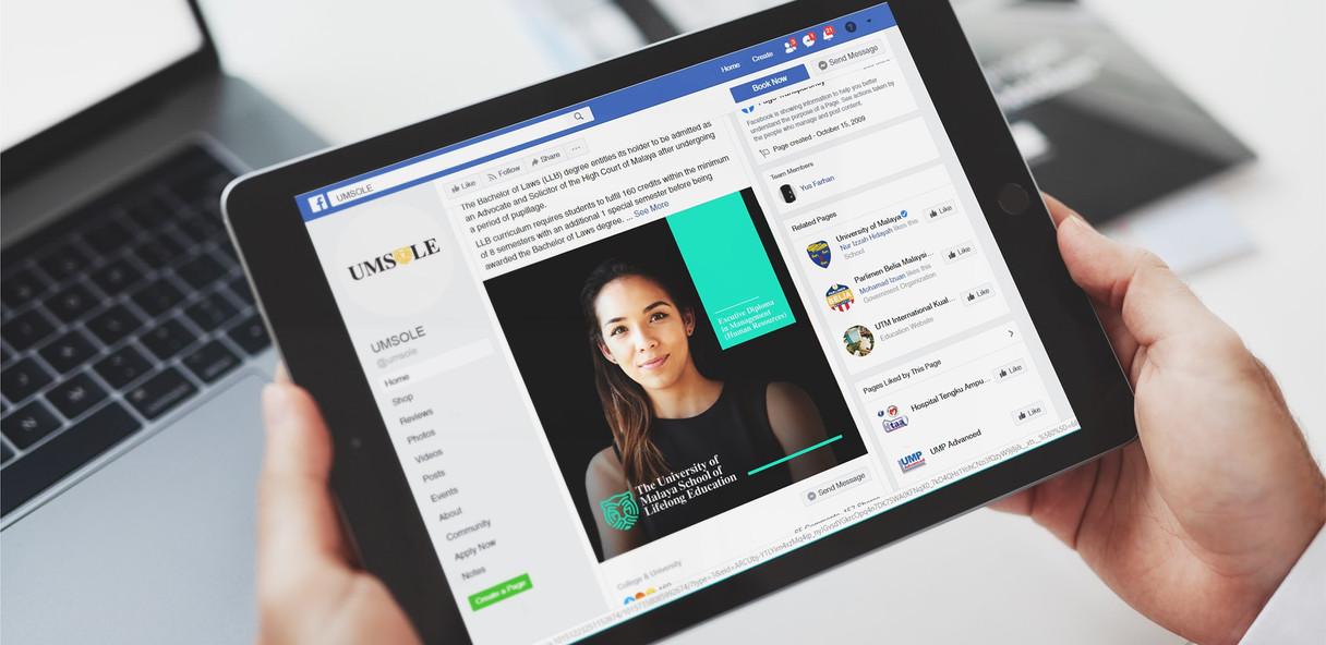 Social Media on Tablet Mock Up