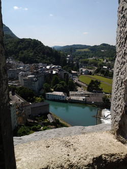 View from the castle of Lourdes