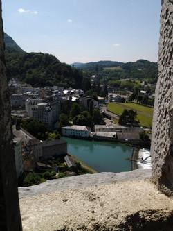 ルルド城砦から見た聖地 View towards sanctuaries