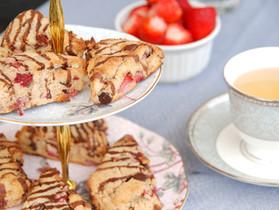 Chocolate Strawberry Scones