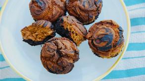 Chocolate-Pumpkin Swirl Muffins