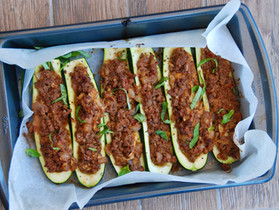 Meat Zucchini Boats