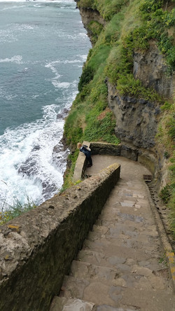 Walking on the coastline, Biarritz