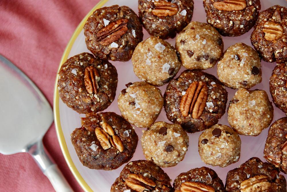 Also pictured here: Pecan Pie Bites, recipe from Chanie Apfelbaum in Millennial Kosher