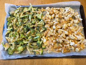 """Breaded"" Broccoli and Cauliflower"