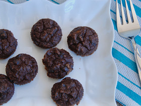 Protein Packed Chocolate Chocolate Chip Muffins