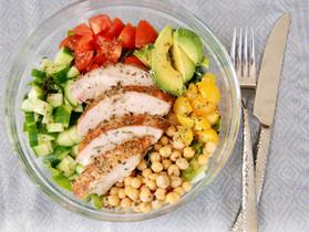 Grilled Chicken Salad with Apple Cider Vinaigrette