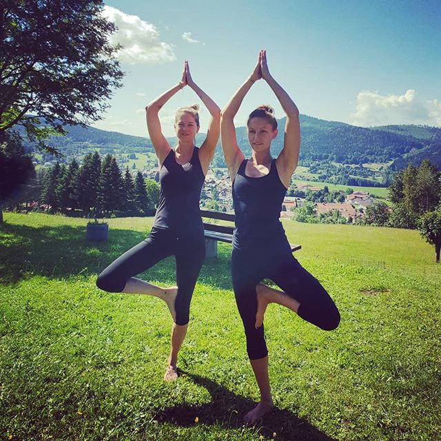 Happy Wednesday everyone!🤗 What's your favourite yoga pose_🌲🙏_•_•_#treepose #yoga #yogainspiration #yogainnature #outdoorlive #dehors #rausi