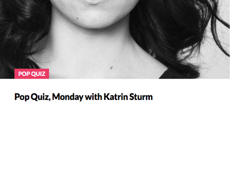 The Startup Growth: Pop Quiz Monday with Katrin Sturm