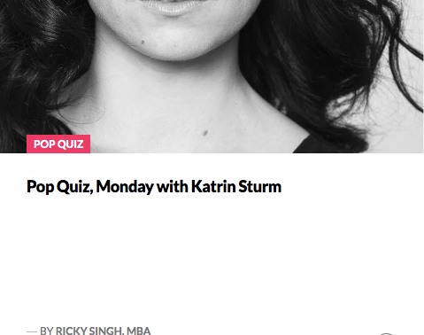 The Startup Growth: Pop Quiz Monday with Katrin Sturm