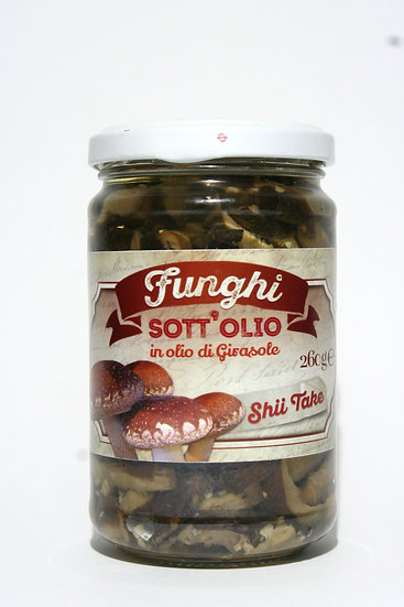 Funghi Shiitake in pezzettoni Sott'olio