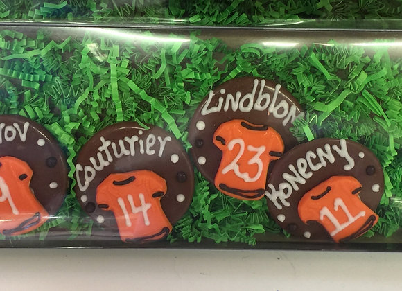 Chocolate Flyers Players Name's and Number's