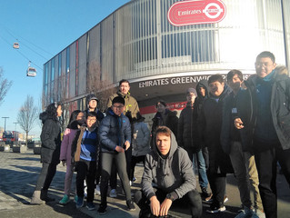 Students soar over Thames to visit the Crystal museum in East London.