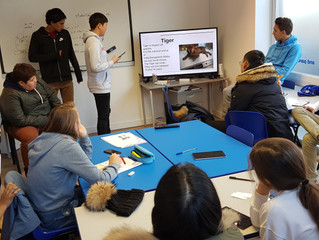 Students present their favourite objects from the Horniman Museum in English