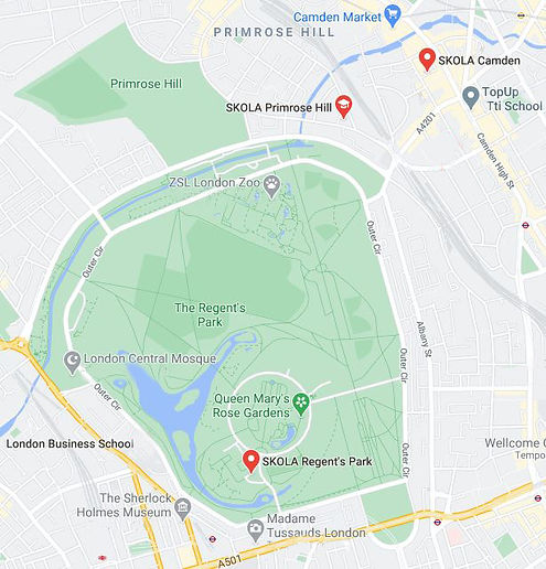 English Summer School for Kids in Regent's Park, London