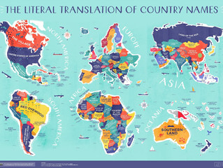 Learn the original name for each country, translated into English