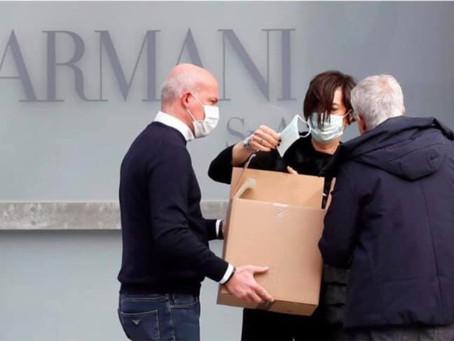 Ведущие Дома Моды помогают бороться с коронавирусом