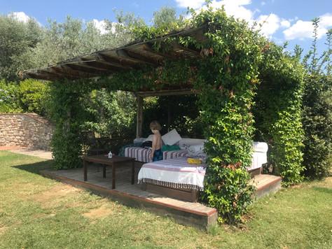 Relaxhörna med sköna madrasser