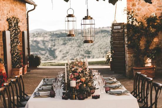 Bröllop i Toscana - Vacker dukning
