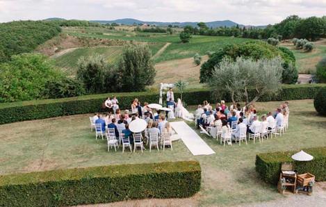 Vacker plats för ceremoni