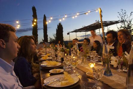 Middag med vänner eller kollegor