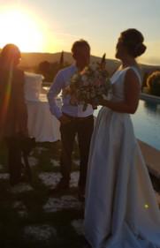 Bröllopsmingel vid poolen