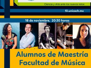 La Maestría en Música, presente en la Tercera Feria Internacional del Libro UNICACH 2020