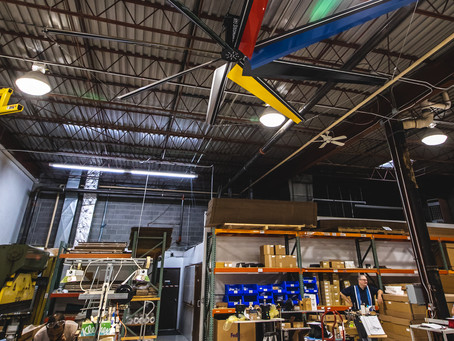Big Fans in Warehouses and Manufacturing Facilities - HVLS Fan Systems