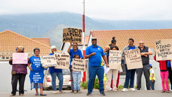 Protest against violence.